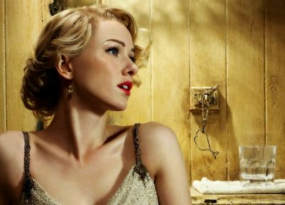 blondes, women, vintage, retro, lips, Naomi Watts - desktop wallpaper