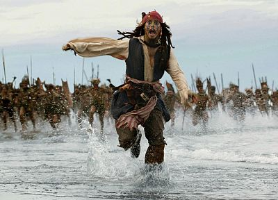movies, Pirates of the Caribbean, Johnny Depp, Captain Jack Sparrow - related desktop wallpaper