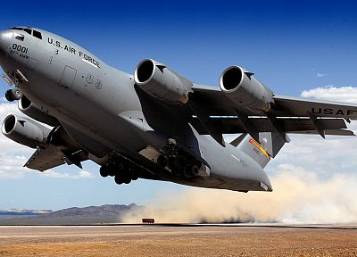 aircraft, military, C-17 Globemaster - random desktop wallpaper