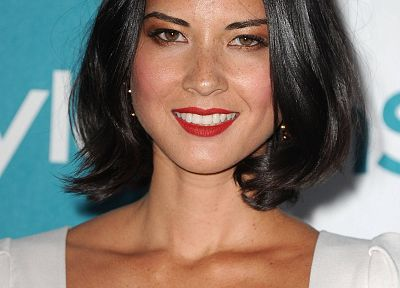 women, Olivia Munn, freckles - random desktop wallpaper
