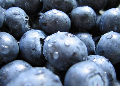 close-up, fruits, food, water drops, blueberries - related desktop wallpaper