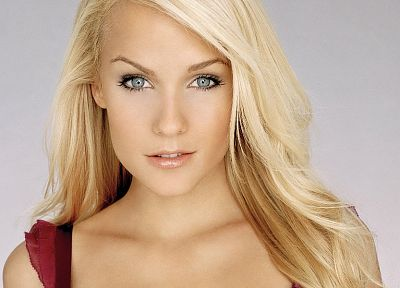 blondes, women, close-up, eyes, blue eyes, Mirjam Weichselbraun, faces - random desktop wallpaper