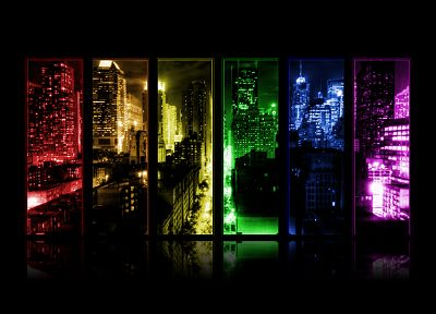 cityscapes, multicolor, buildings - random desktop wallpaper