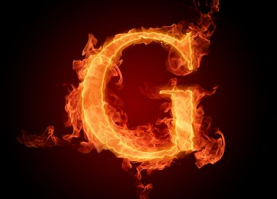 flames, fire, typography, alphabet, letters - random desktop wallpaper