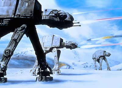 Star Wars, Hoth, AT-AT - random desktop wallpaper