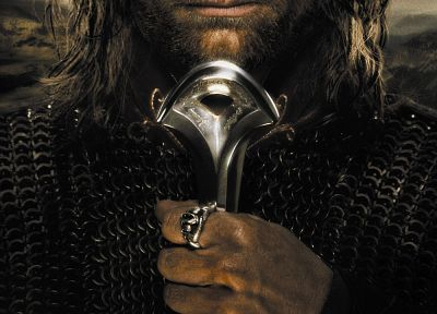 movies, The Lord of the Rings, Aragorn, Viggo Mortensen, movie posters, posters, The Return of the King - related desktop wallpaper