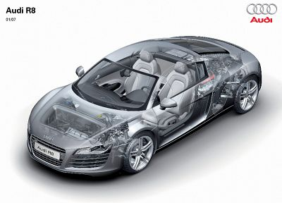 cars, Audi R8, cutaway, German cars - random desktop wallpaper