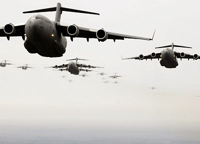 war, airplanes, C-17 Globemaster - related desktop wallpaper