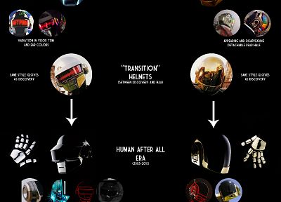 Daft Punk, history, evolution - desktop wallpaper