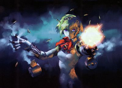 Persona series, Persona 3, artwork, Aigis - random desktop wallpaper