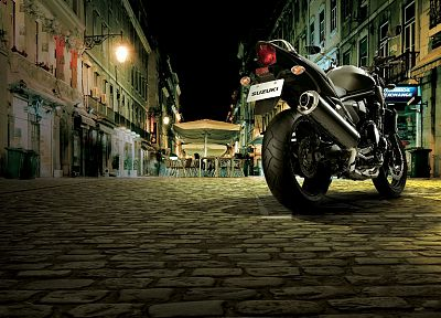 streets, Suzuki, vehicles, motorbikes - desktop wallpaper