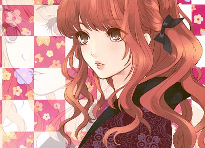 redheads, Japanese clothes, anime girls - random desktop wallpaper