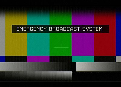 TV, test pattern, emergency broadcast system - random desktop wallpaper