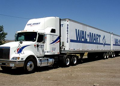 trucks, semi, Walmart, turnpike doubles, vehicles - related desktop wallpaper