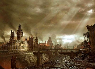 England, post-apocalyptic, London, Big Ben - related desktop wallpaper
