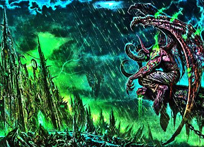 illidan, WarCraft III - random desktop wallpaper