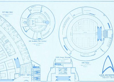 Star Trek, blueprints, spaceships, vehicles, USS Enterprise, Star Trek logos, Star Trek schematics - related desktop wallpaper