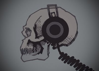 headphones, skulls - random desktop wallpaper