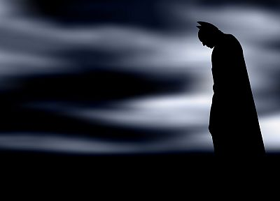 Batman, silhouettes, fog - random desktop wallpaper