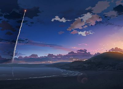 Makoto Shinkai, 5 Centimeters Per Second, contrails - desktop wallpaper