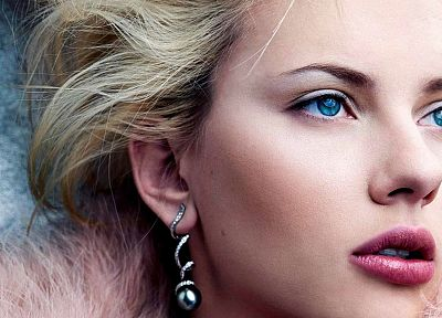 women, Scarlett Johansson, blue eyes, faces - related desktop wallpaper