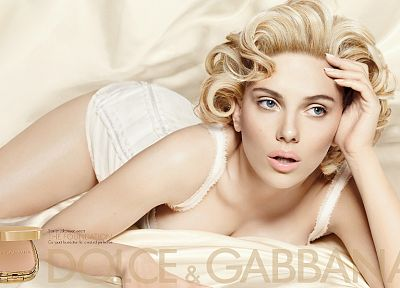 blondes, women, Scarlett Johansson, actress, Dolce and Gabbana - related desktop wallpaper