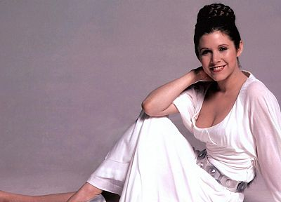 women, Star Wars, Carrie Fisher, Leia Organa, white dress - related desktop wallpaper
