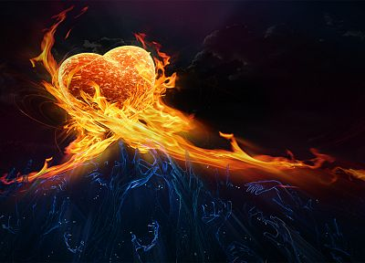abstract, clouds, love, fire, hands, ghosts, fantasy art, hearts - related desktop wallpaper