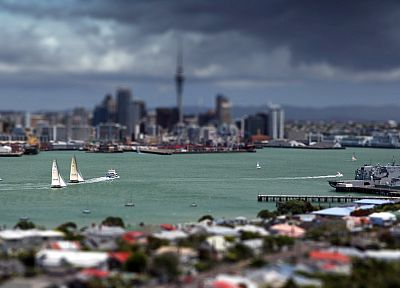 cityscapes, Auckland, tilt-shift - related desktop wallpaper