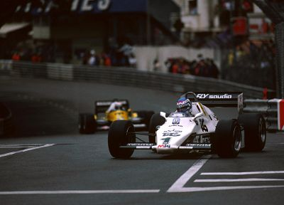 cars, Formula One, Monaco, vehicles, Williams, Keke Rosberg - random desktop wallpaper