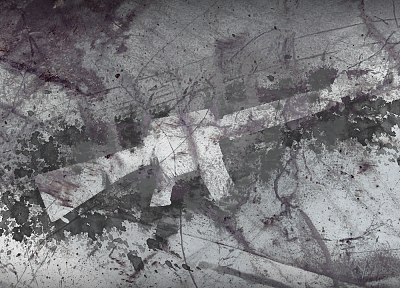 guns, textures, M16, splatters - random desktop wallpaper