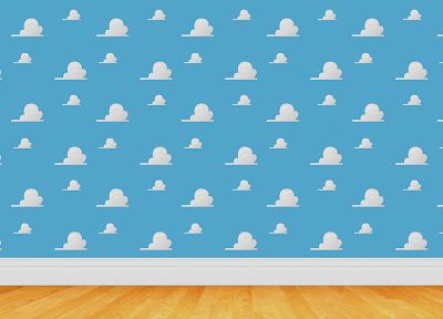 clouds, wall, Toy Story - desktop wallpaper