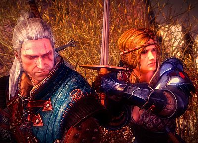 Geralt of Rivia, The Witcher 2: Assassins of Kings, Saskia - related desktop wallpaper