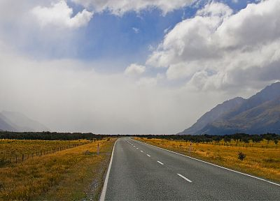 mountains, clouds, landscapes, roads, skyscapes - related desktop wallpaper