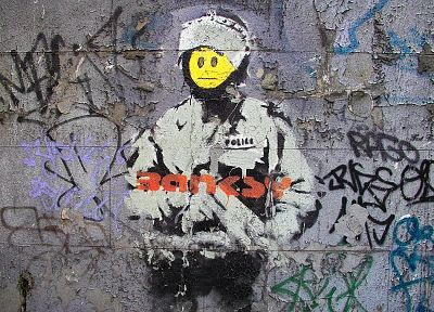graffiti, Banksy, street art - random desktop wallpaper