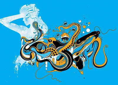 abstract, octopuses - random desktop wallpaper