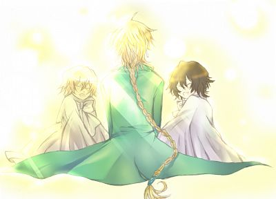 brunettes, blondes, Pandora Hearts, anime, anime boys, Gilbert Nightray, Jack Vessalius, braids, Vincent Nightray - related desktop wallpaper