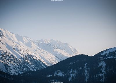 mountains, landscapes, snow, forests - related desktop wallpaper