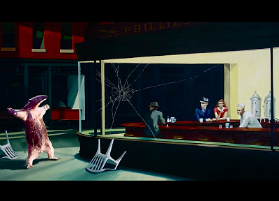 anteater, Nighthawks At The Diner - random desktop wallpaper