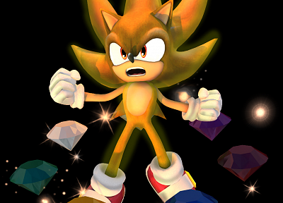 Super Smash Bros, Super Smash Bros Brawl, Super Sonic - random desktop wallpaper