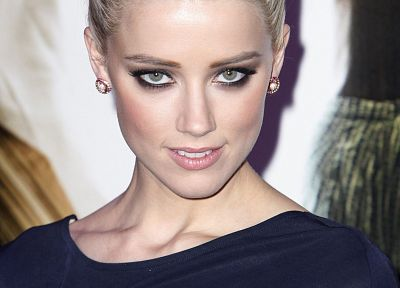 women, close-up, actress, Amber Heard, faces - random desktop wallpaper