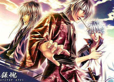 Gintama, Sakata Gintoki, Japanese clothes - related desktop wallpaper