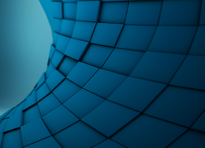 abstract, waves, tsunami, block, 3D - random desktop wallpaper