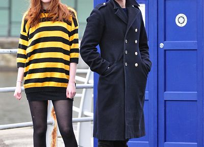 TARDIS, Matt Smith, BBC, Karen Gillan, Amy Pond, Eleventh Doctor, Doctor Who - related desktop wallpaper