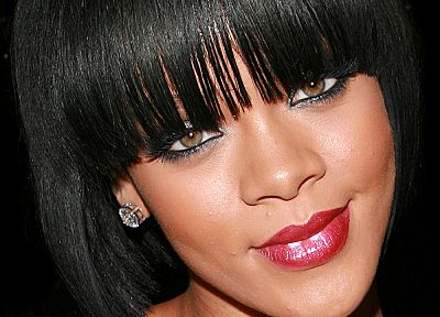 black people, Rihanna, celebrity, singers, bangs - random desktop wallpaper