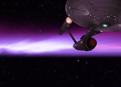 outer space, stars, Star Trek, spaceships, science fiction, Enterprise, starship - desktop wallpaper