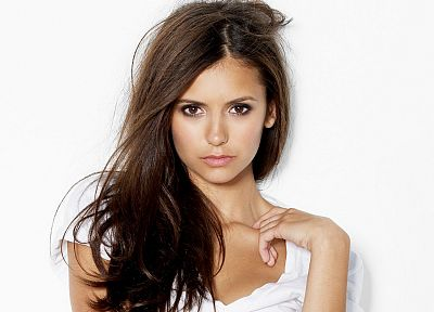 brunettes, women, Nina Dobrev - random desktop wallpaper