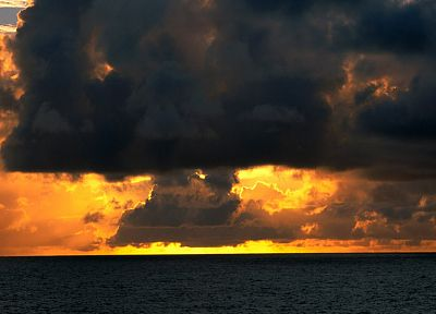 clouds, skyscapes, sea - desktop wallpaper