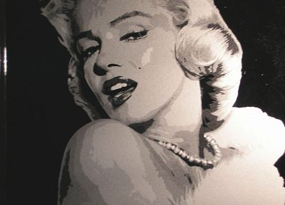 Marilyn Monroe, artwork - desktop wallpaper