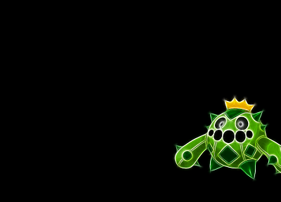 Pokemon, black background, Cacnea - desktop wallpaper